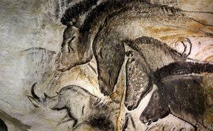 Un fac simile des peintures rupestres de la  grotte Chauvet.