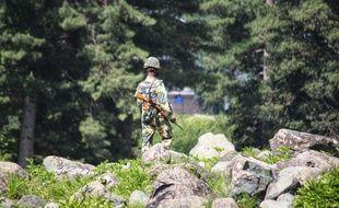 Un soldat indien sur une partie de la frontière controversée avec la Chine, le 17 juin 2020.