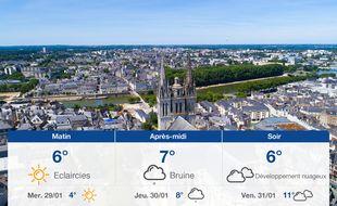Météo Angers: Prévisions du mardi 28 janvier 2020