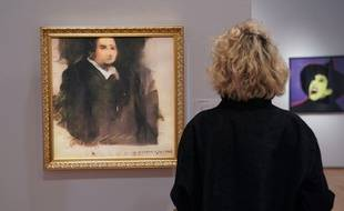 «Portrait d'Edmond de Belamy», une toile créée par un logiciel d'intelligence artificielle.