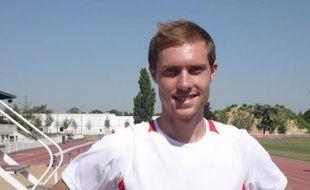 Jeff Lastennet, champion de France du 800 mètres, à l'Insep le 6 août 2009.