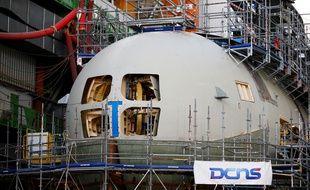 Un sous-marin en construction dans les locaux de l'entreprise Naval Group (image d'illustration).