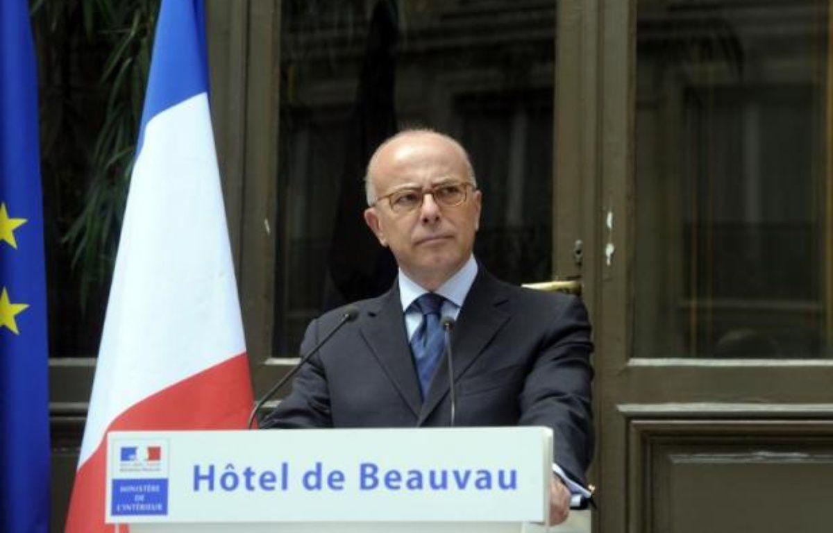 Le ministre de l'Intérieur Bernard Cazeneuve donne une conférence de presse, le 2 août 2014 à Paris – Dominique Faget AFP
