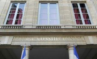 Le Conseil constitutionnel à Paris le 21 février 2012