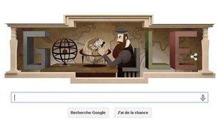 Google rend hommage à Gérard Mercator le 5 mars 2015 avec un Doodle