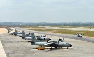 Des avions de l'armée de l'air indienne à Bangalore, le 3 octobre 2013