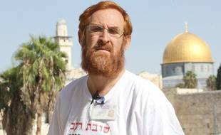 Jérusalem, le 10 novembre 2013. Yehuda Glick pose sur le mont du Temple à Jérusalem.