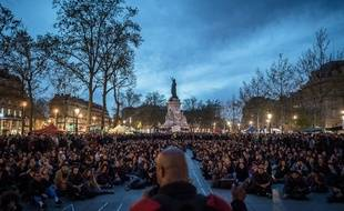Nuit debout, place de la République, à Paris, le 20 avril 2016.