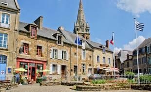 Illustration du bourg de Bécherel, commune située au nord-ouest de Rennes.