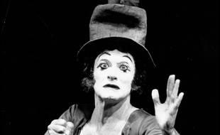 Le mime Marceau en 1960