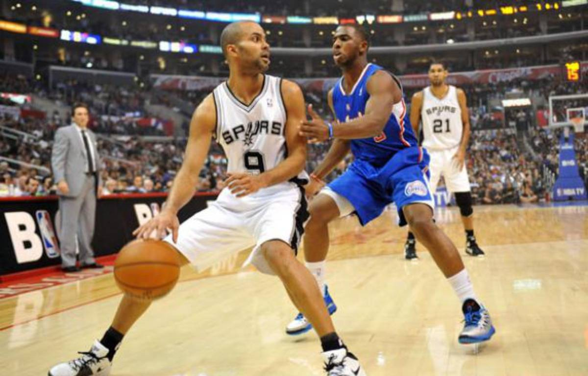 Tony Parker contre les Clippers de Chris Paul, le 7 novembre 2012 – John Green/NEWSCOM/SIPA