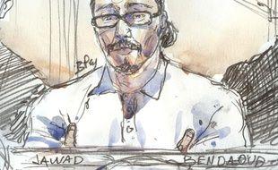 """Jawad Bendaoud est jugé pour """"recel de malfaiteurs terroristes"""" pour avoir hébergé les terroristes du 13-Novembre."""