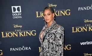 La chanteuse Beyoncé à l'avant-première du «Roi Lion»