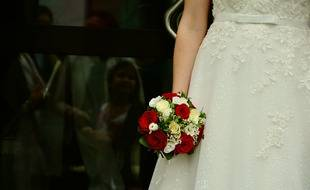 Le mariage avait lieu dans une école juive orthodoxe pour filles d'un quartier londonien.