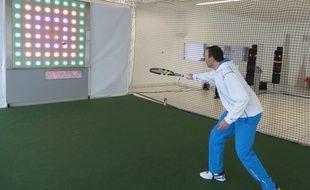 Digi-tennis 2.0, un mur digital pour s'entraîner au tennis.