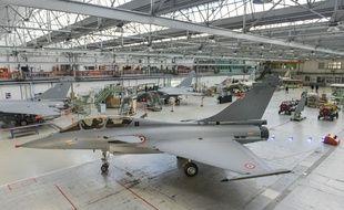 L'usine d'assemblage des Rafale de Dassault, à Mérignac, près de Bordeaux.