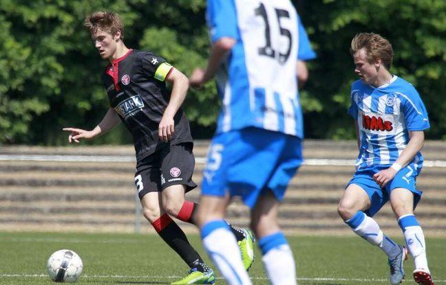 Joachim Andersen, ici lors d'une rencontre avec les U17 du FC Midtjylland (Danemark).