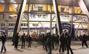 Le stade Armand-Cesari à Furiani, siège du Sporting Club de Bastia.