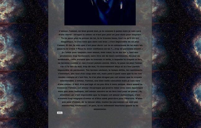 Capture d'écran d'un texte emblématique de la littérature française