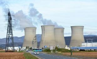 La centrale nucléaire du Bugey (Ain).