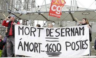 Manifestation de salariés de la Sernam le 4 avril 2012