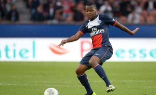 L'attaquant du PSG Hervin Ongenda, le 19 octobre 2013 contre Bastia, à Paris