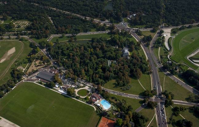 Le domaine de Longchamp vu du ciel.