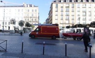 Les pompiers de Rennes partent en intervention le 7 février 2016.