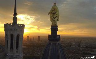 Capture d'écran de la vidéo Lyon vue du Ciel par un drone.