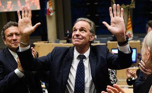 Renaud Muselier lors de son élection le 2 juillet 2021