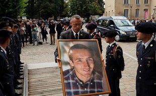 Une photo du caporal Arthur Noyer, lors de ses funérailles en septembre 2018.