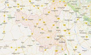 Localisation de l'Etat Haryana, en Inde