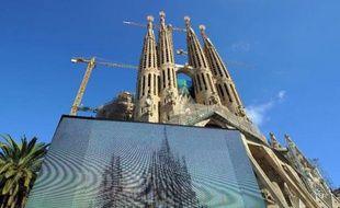 La Sagrada Familia de Barcelone le 5 novembre 2010