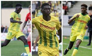 De gauche à droite: Batista Mendy, Kolo Muani et Thomas Basila.