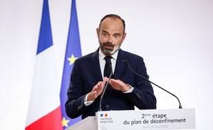 Edouard Philippe à Matignon le 28 mai 2020.