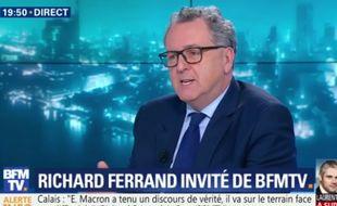 Richard Ferrand sur BFMTV, le 16 janvier 2018.
