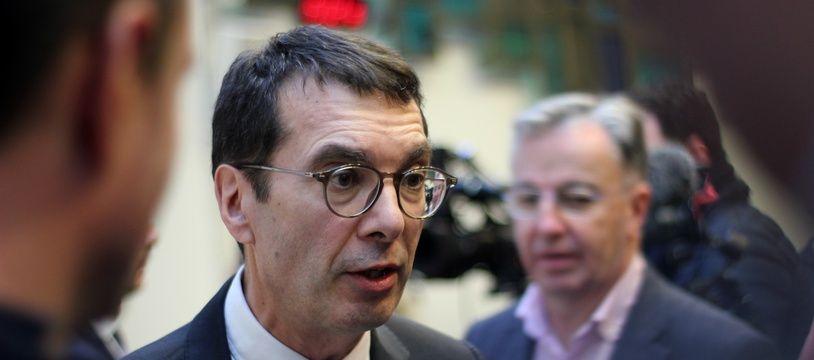 Le PDG de la SNCF Jean-Pierre Farandou, ici lors de sa venue à Rennes, le 24 janvier 2020.