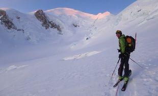 Emmanuel Gastaud à été le premier greffé à gravir le Mont-Blanc en skis de randonnée.