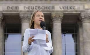 Greta Thunberg lors de la manifestation pour le climat à Berlin, ce 24 septembre.