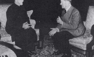 Adolf Hitler (d) et le grand mufti de Jerusalem Haj Amin al-Husseini, à Berlin le 30 novembre 1941
