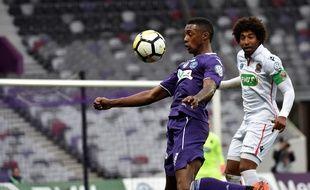 Le Brésilien du TFC Somalia, seul buteur du match de Coupe de France contre Nice, le 6 janvier 2018 au Stadium de Toulouse.