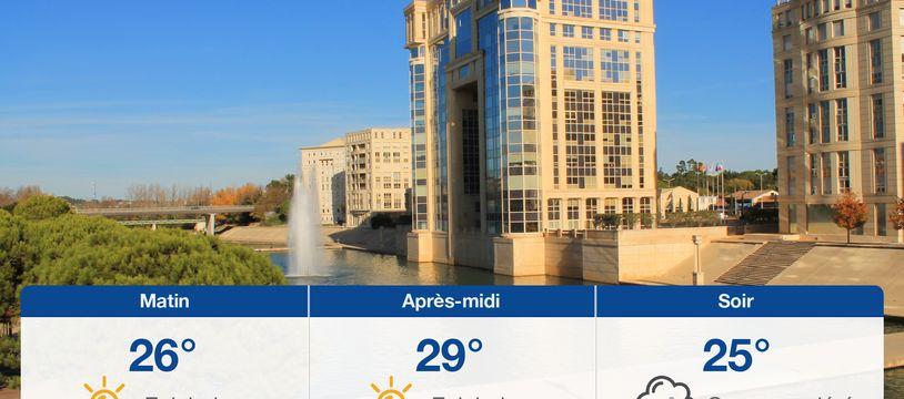 Météo Montpellier: Prévisions du samedi 31 juillet 2021