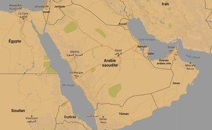 Google map de l'Arabie saoudite