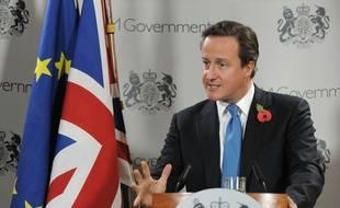 Le premier ministre britannique David Cameron à un sommet de l'Union européenne en 2010.