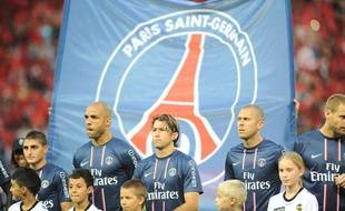 Le Paris Saint-Germain face à Lorient, au Parc des Princes, le 11 août 2012.