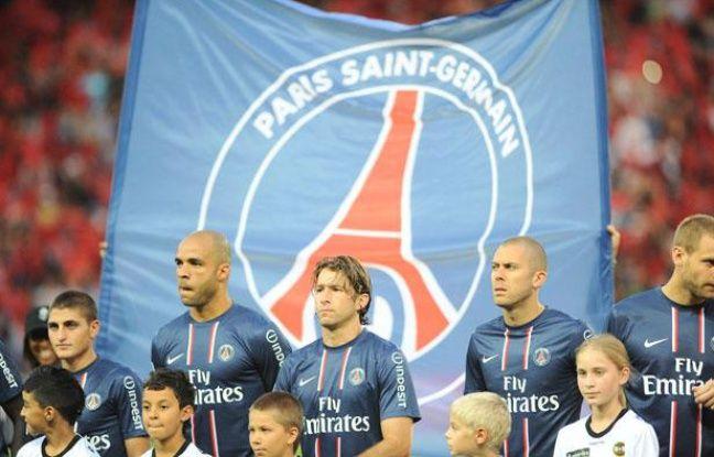 Le Paris Saint-Germain face à Lorient, au Parc des Princes, le 11 août 2012.