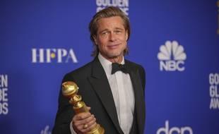 L'acteur Brad Pitt aux 77e Golden Globes