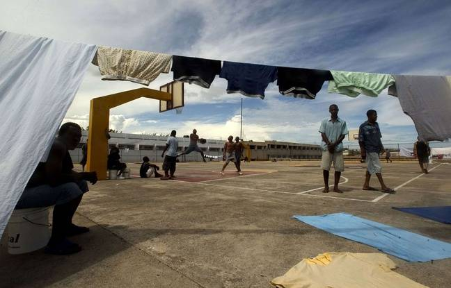 La cour du centre pénitentiaire de Najayo (République dominicaine) où Christophe Naudin a été placé en détention provisoire.