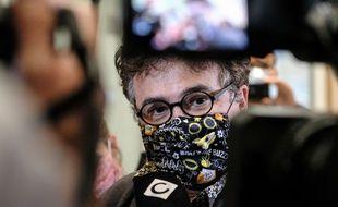 Le médecin francais Patrick Pelloux lors du procès des attentas de Charlie Hebdo.