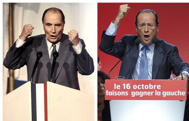 François Mitterrand en 1988 et François Hollande en 2012.